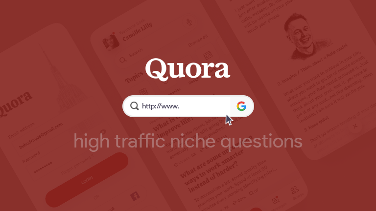 How to find low competitive high traffic niche questions in Quora with a simple Google search?